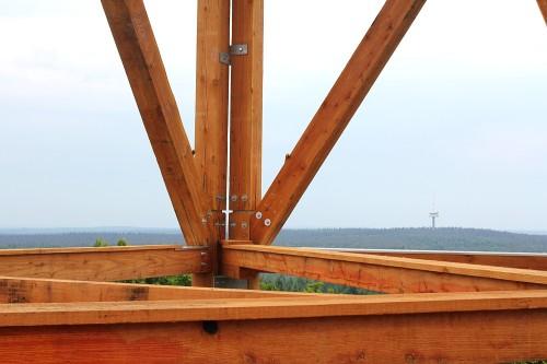 Ausblick: Am Horizont ist der Thurauer Funkturm zu erkennen